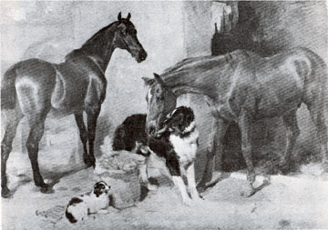 "Landseer's ""Horses and Dog with a Carrot"" 1827"